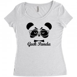 Geek Panda Women's Triblend Scoop T-shirt | Artistshot