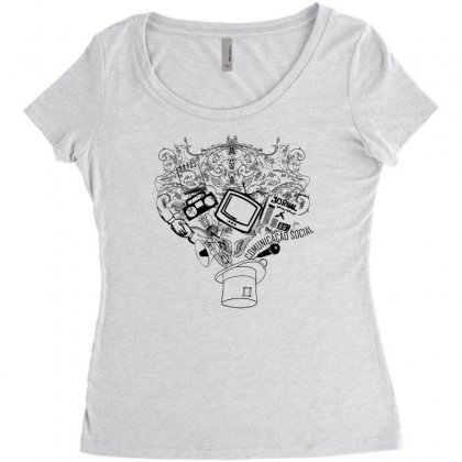 Magic Hat Of Social Women's Triblend Scoop T-shirt Designed By Specstore