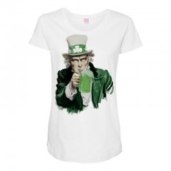 st patricks day  uncle sam Maternity Scoop Neck T-shirt | Artistshot