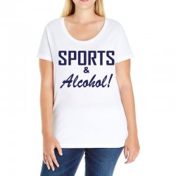 sports and alcohol Ladies Curvy T-Shirt | Artistshot