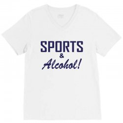 sports and alcohol V-Neck Tee | Artistshot