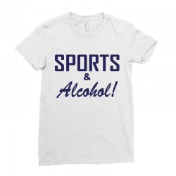 sports and alcohol Ladies Fitted T-Shirt | Artistshot