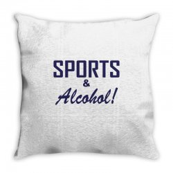 sports and alcohol Throw Pillow | Artistshot