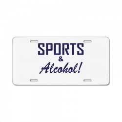 sports and alcohol License Plate | Artistshot