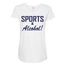 sports and alcohol Maternity Scoop Neck T-shirt | Artistshot