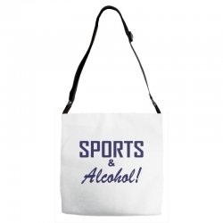 sports and alcohol Adjustable Strap Totes | Artistshot