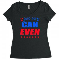 Yes We Can Even Women's Triblend Scoop T-shirt | Artistshot