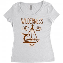 wilderness camper Women's Triblend Scoop T-shirt | Artistshot