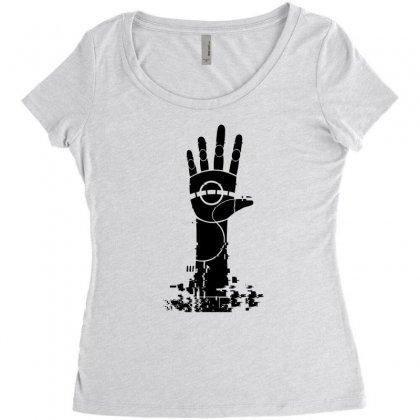 The Unperson Hand Women's Triblend Scoop T-shirt Designed By Specstore