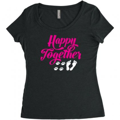 Happy Together With Pet Women's Triblend Scoop T-shirt Designed By Specstore
