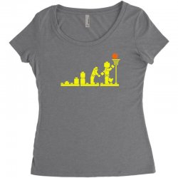 evolution lego basketball sports funny Women's Triblend Scoop T-shirt | Artistshot