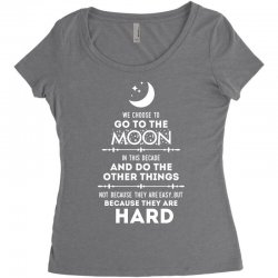 We Choose to Go to The Moon Women's Triblend Scoop T-shirt | Artistshot