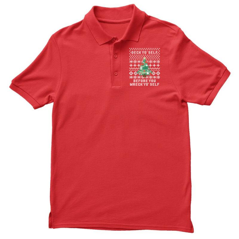 Deck Yo Self Before You Wreck Yo Self Men's Polo Shirt | Artistshot