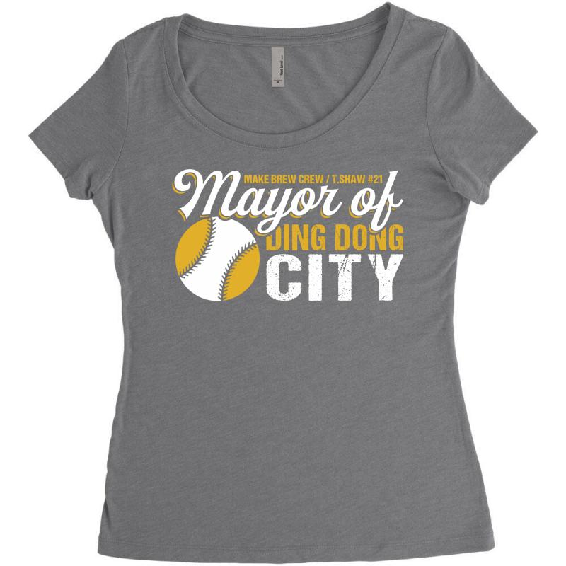 Travis Shaw - Mayor Of Ding Dong City Women's Triblend Scoop T-shirt | Artistshot