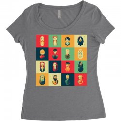 family of thrones Women's Triblend Scoop T-shirt | Artistshot