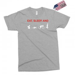 eat, sleep & train triathlon sports, gym, athletic Exclusive T-shirt | Artistshot