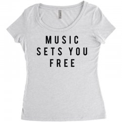 music sets you free Women's Triblend Scoop T-shirt | Artistshot