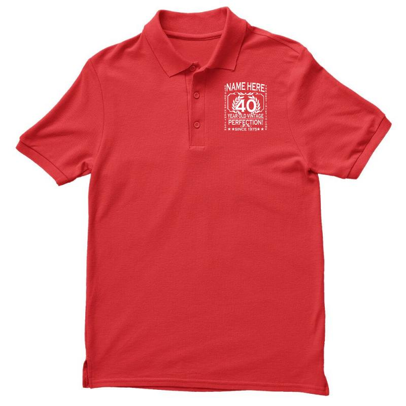 98893caa0 40th birthday t shirt personalise with name age year ideal birthday gi Polo  Shirt