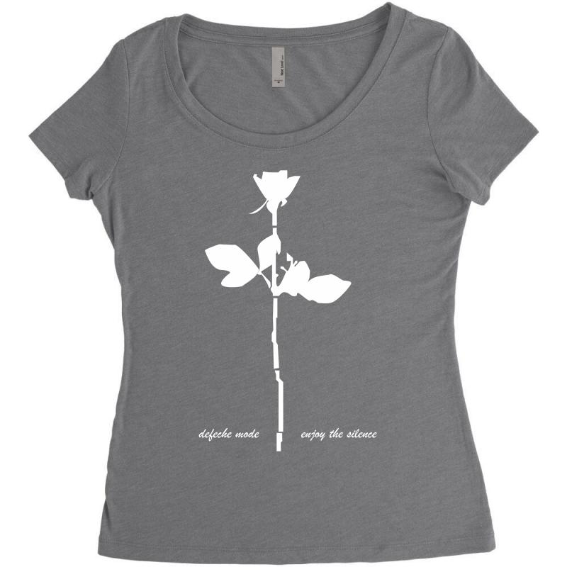 0198532d10 depeche mode violator enjoy the silence mens music Women s Triblend Scoop T- shirt
