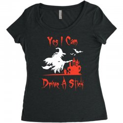 yes i can drive a stick Women's Triblend Scoop T-shirt | Artistshot