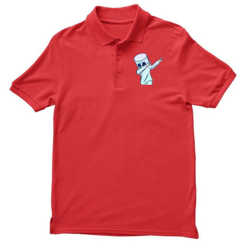 9d9742ad0330e5 Custom Dabbing Marshmello Polo Shirt By Mdk Art - Artistshot