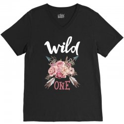 Wild One Girl V-Neck Tee | Artistshot