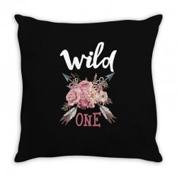 Wild One Girl Throw Pillow | Artistshot