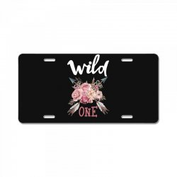 Wild One Girl License Plate | Artistshot