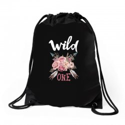 Wild One Girl Drawstring Bags | Artistshot