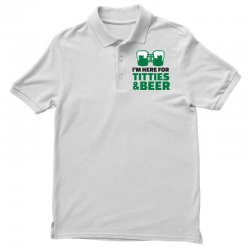 st. patrick's day titties and beer Polo Shirt | Artistshot