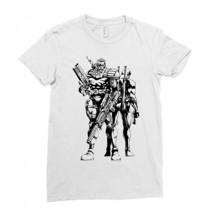 Cable And Deadpool Ladies Fitted T-shirt Designed By Sbm052017