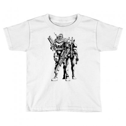 Cable And Deadpool Toddler T-shirt Designed By Sbm052017