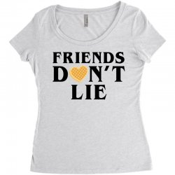 Friends Dont Lie Women's Triblend Scoop T-shirt | Artistshot