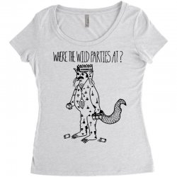where the wild parties at Women's Triblend Scoop T-shirt | Artistshot