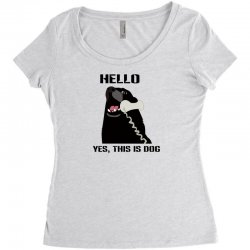 hello yes this is dog telephone phone Women's Triblend Scoop T-shirt | Artistshot