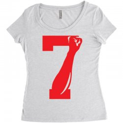 Colin Kaepernick Number 7 Women's Triblend Scoop T-shirt | Artistshot