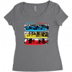the police synchronicity rock band Women's Triblend Scoop T-shirt   Artistshot