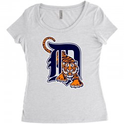 detroit tigers sports baseball Women's Triblend Scoop T-shirt | Artistshot