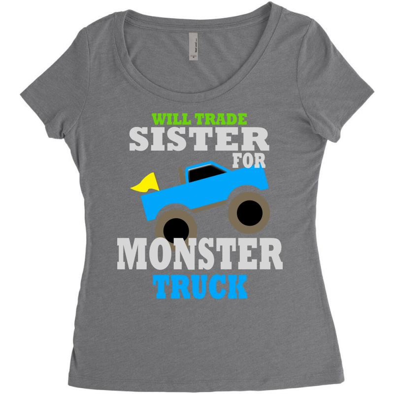 d2a2564c Custom Monster Truck Shirt For Boys Toddlers Women's Triblend Scoop ...