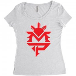 manny pacquiao red mp logo boxer sports Women's Triblend Scoop T-shirt | Artistshot
