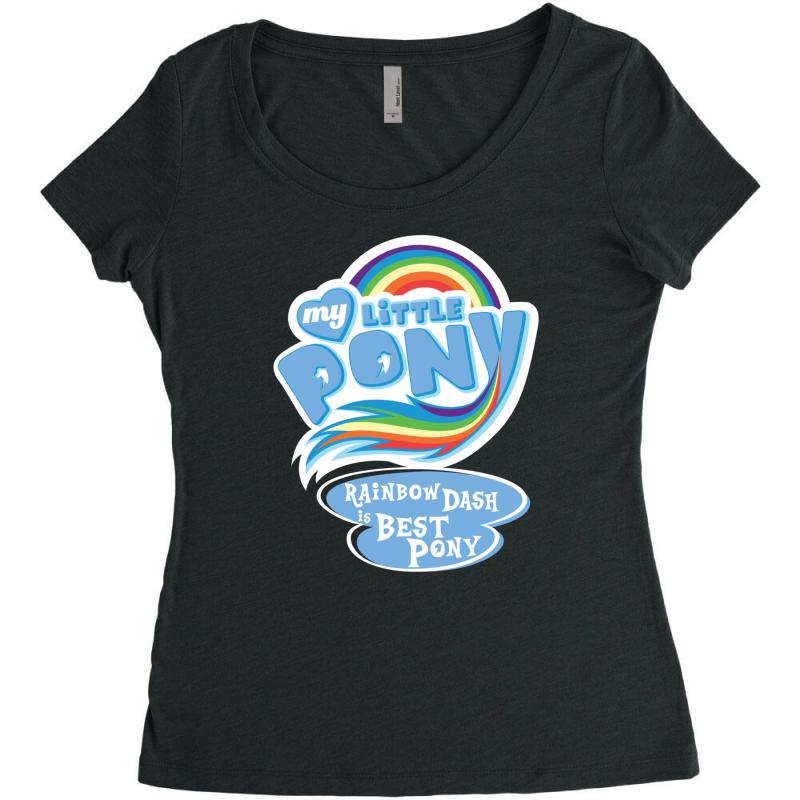 22721e49b25 Custom My Little Pony Logo Women's Triblend Scoop T-shirt By Hezz ...