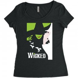 wicked broadway musical about wizard of oz Women's Triblend Scoop T-shirt | Artistshot