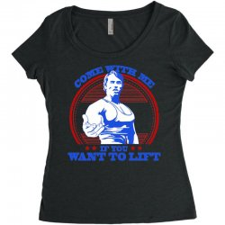 Come With Me if You Want to Lift Women's Triblend Scoop T-shirt | Artistshot
