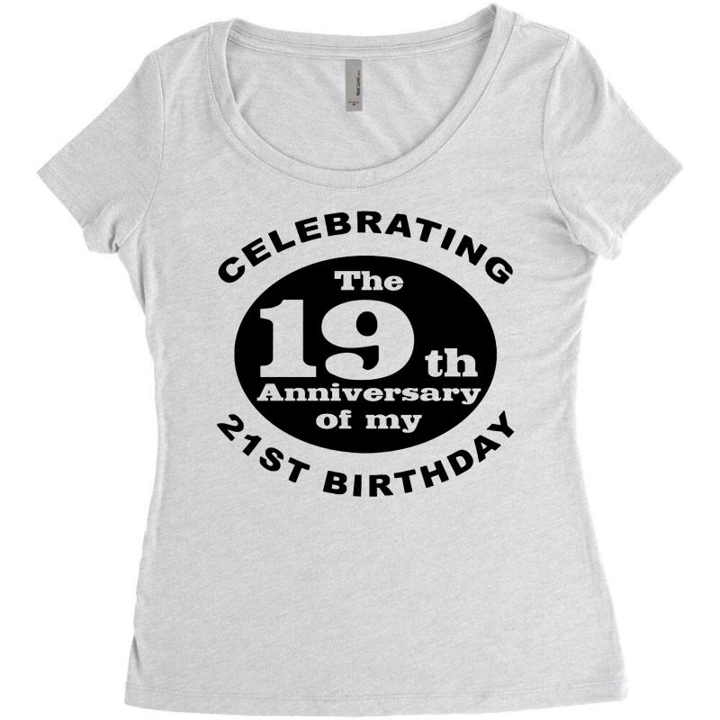 Funny 40th Birthday Womens Triblend Scoop T Shirt