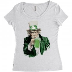 st patricks day  uncle sam Women's Triblend Scoop T-shirt | Artistshot