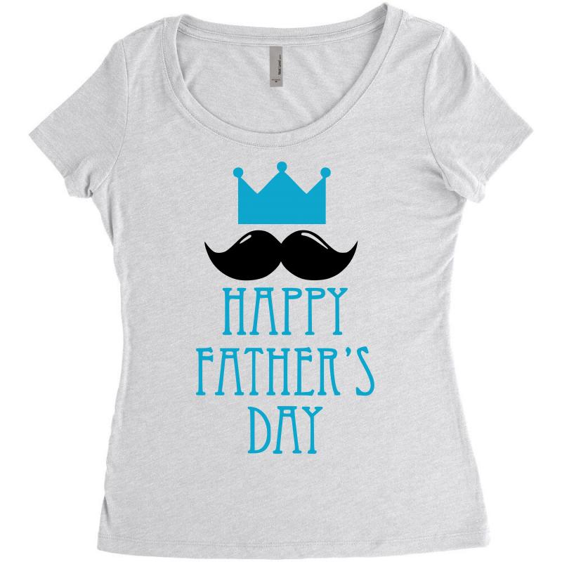 538afcbfa Custom Happy Father's Day 2 Women's Triblend Scoop T-shirt By ...