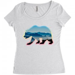 wild bear Women's Triblend Scoop T-shirt | Artistshot