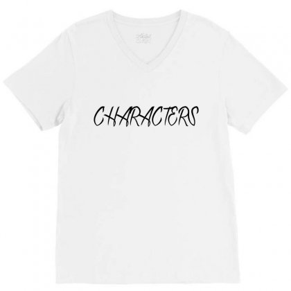 Characters V-neck Tee Designed By Megaagustina
