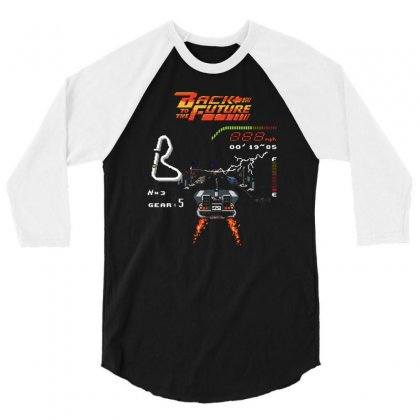 Back To The Future 3/4 Sleeve Shirt Designed By Monzart
