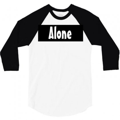 Alone Anymore 3/4 Sleeve Shirt Designed By Love